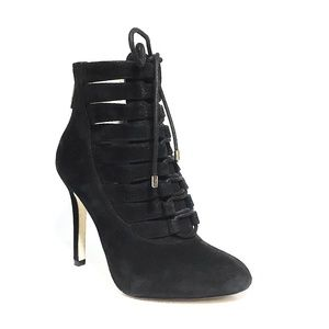 BCBGeneration Size 4 Suede Lace Up Belini Booties
